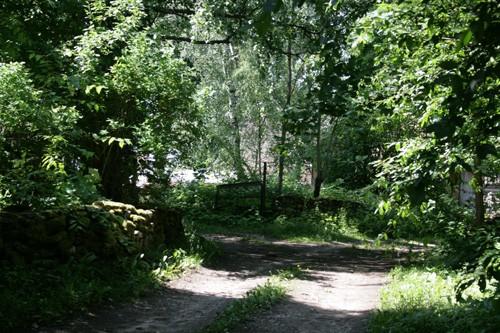 Hõbeda küla põhja-lõuna suunaline tänav. Foto: Mari Lõhmus, 19.06.2008.