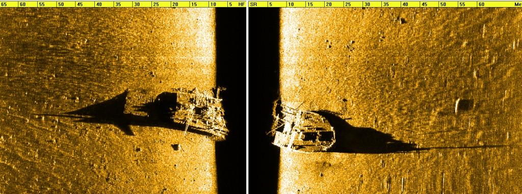 2012. aastal tehtud sonarifoto vrakist. © Muinsuskaitseamet.