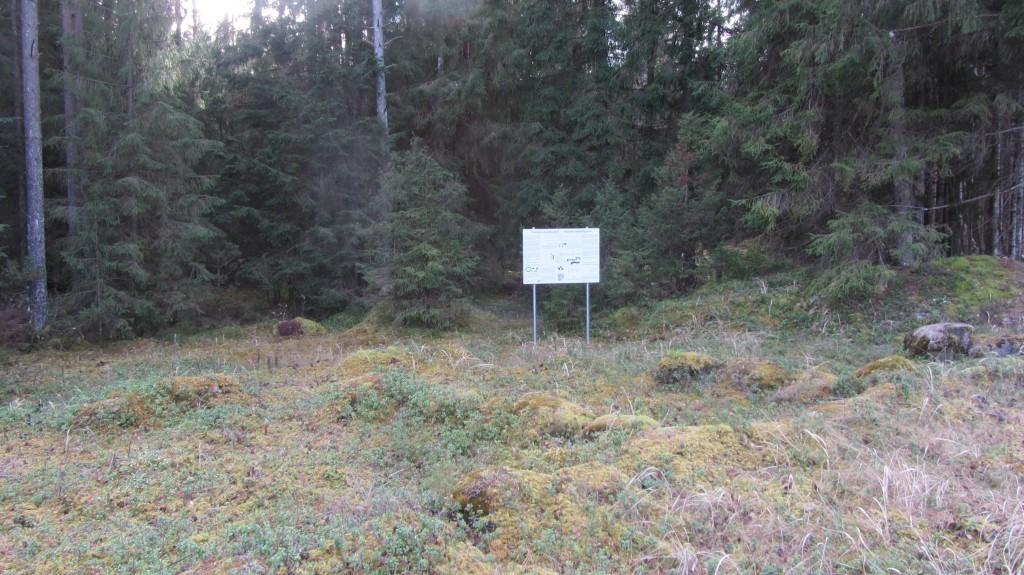Infostend Virunuka kalmetel. Foto: Ingmar Noorlaid, 31.10.2014.