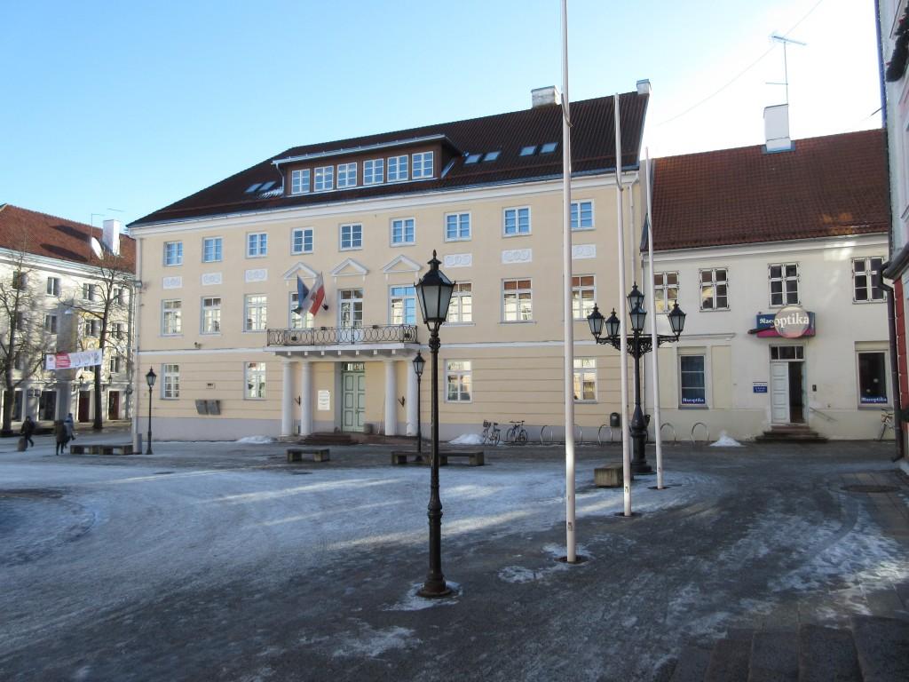 Raekoja plats 3 maja raekoja poolt vaadatuna. Foto Egle Tamm, 11.02.2015.