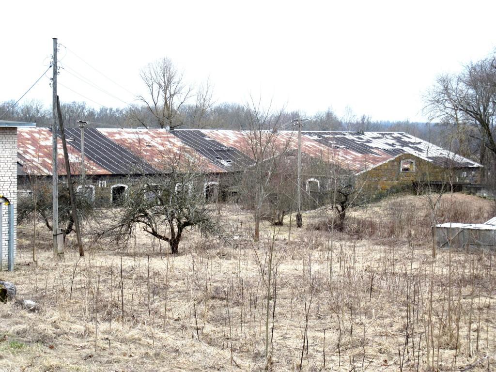 Kuremaa mõisa laut 2, avariilise katusega tagakülg Foto Sille Raidvere Aeg: 27.03.2015