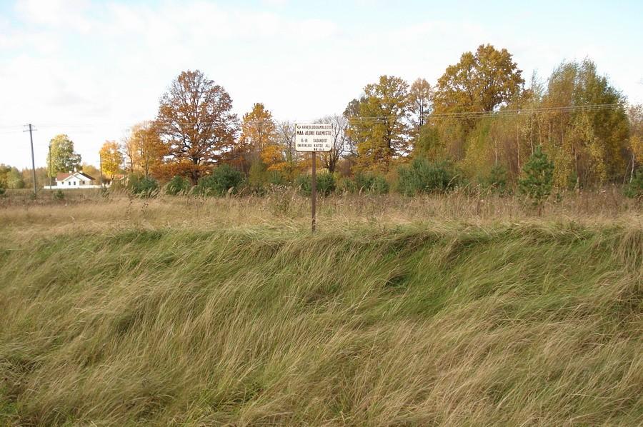 Vaade Tõitoja-Laiksaare maanteelt kalmistule. Foto: Karin Vimberg, 10.10.2008.