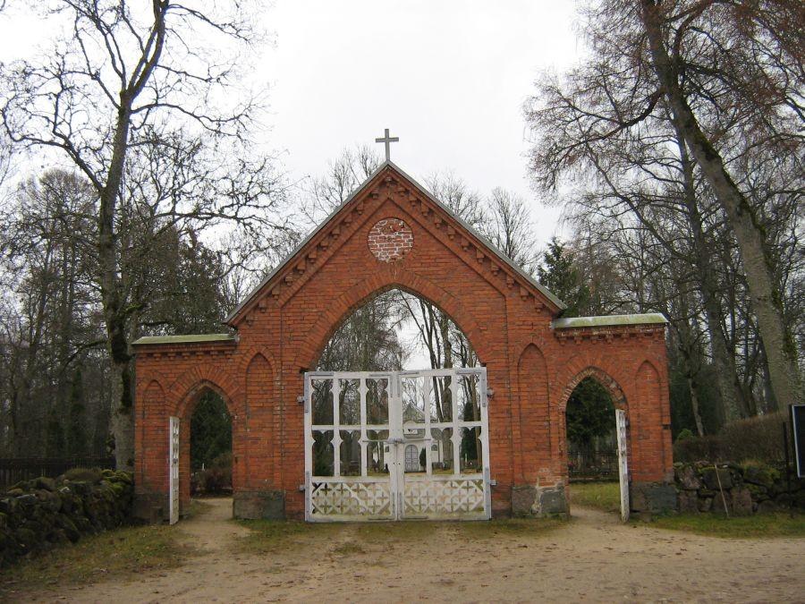 Suure-Jaani kalmistu peavärav. Foto: Anne Kivi, 13.11.2008.