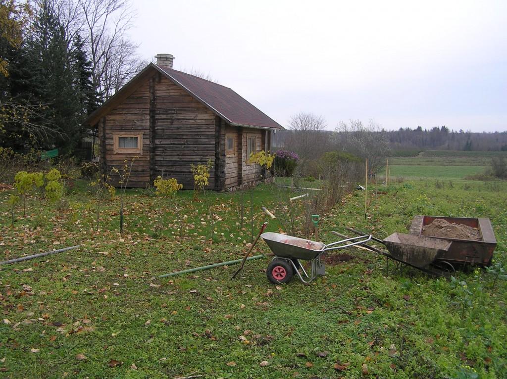 Vaade rajatava aia asupaigale. Foto: Martti Veldi, 29.10.2008.