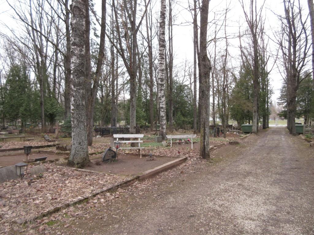 Uus-Peetri kalmistu üldvaade. Foto Egle Tamm, 30.03.2016.