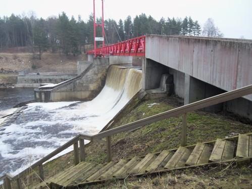 Vaade Linnamäe hüdroelektrijaamale. Foto Ly Renter 26.02.2015