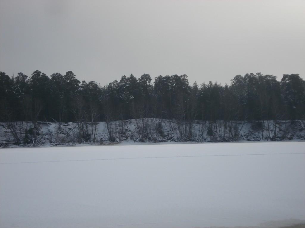Vaade Sindi-Lodja II asulakohale Tammiste asulakohalt. Foto: Karin Vimberg, 23.01.2009.