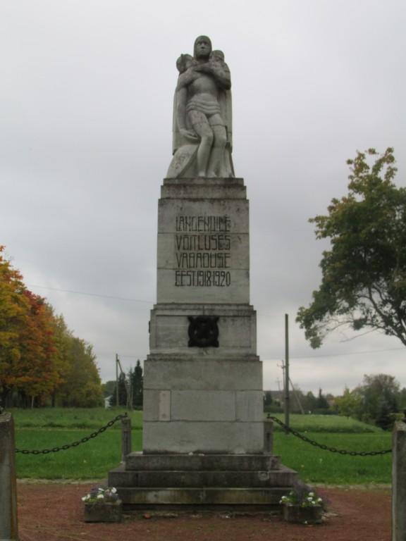 Lüganuse Vabadussõja mälestussammas. 27.09.2016.a. Foto: Kalle Merilai