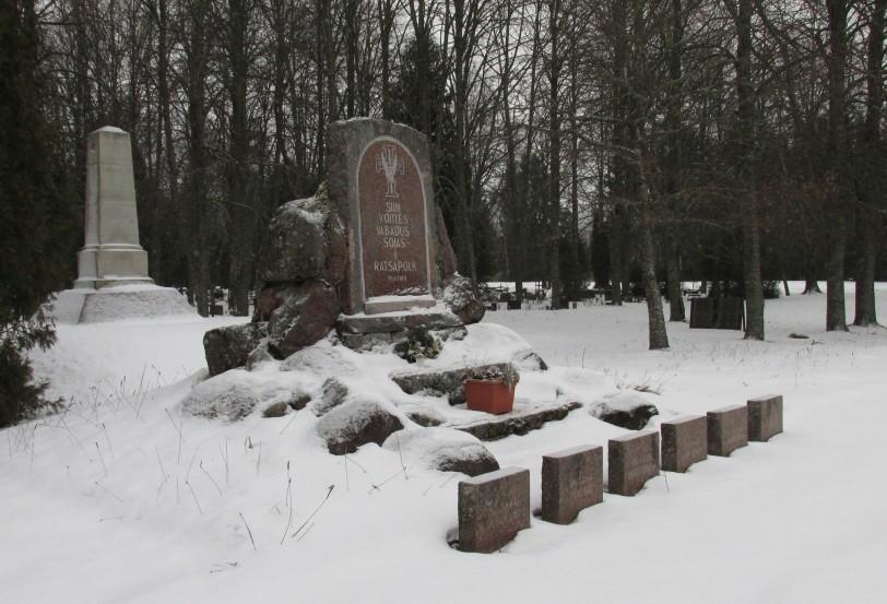 Vaade monumendile. Foto Kersti Siim, 31.01.2017.