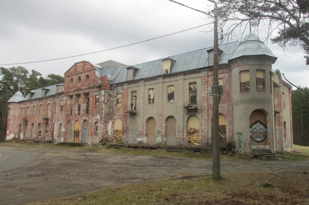 Narva-Jõesuu kuursaal,1922.  Eestvaade. Foto: Kalle Merilai 11.04.2017.a.