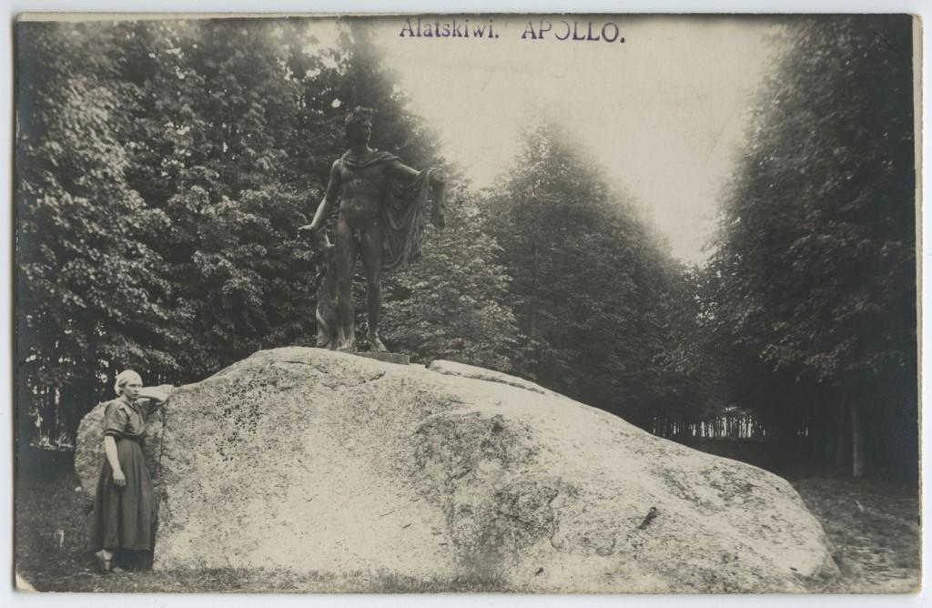 Belvedere Apollo Alatskivi lossi juures. Foto ca 1920-1938.a. Eesti Ajaloomuuseum F32898