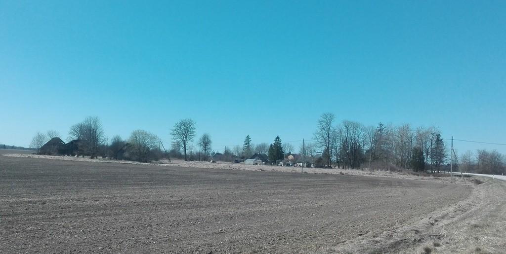 Asulakoht 9660, Mäeküla-Koeru teest lõunapoolne osa (vaade kirdest).  Foto: K. Klandorf 02.05.2017.