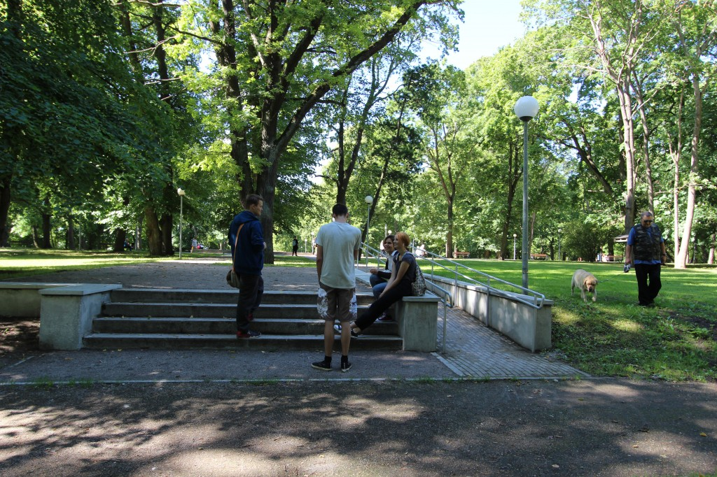 Vaade kalmistu kesksele trepile idasuunast. Diana Haapsal. 03.08.2017