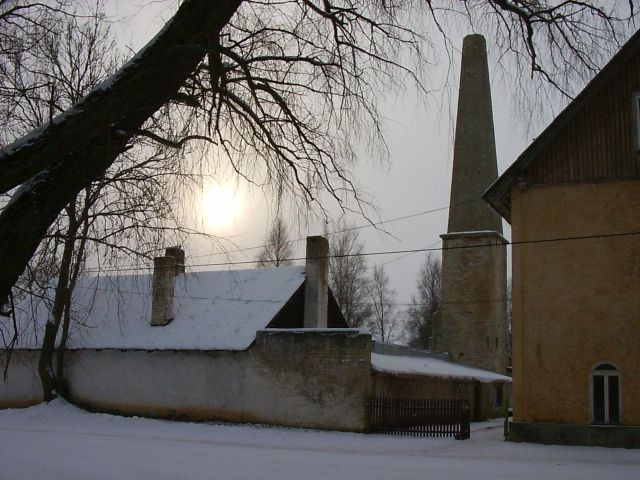 Viinavabriku kelder, vaade põhja poolt    Autor Kalli Pets    Kuupäev  28.01.2005