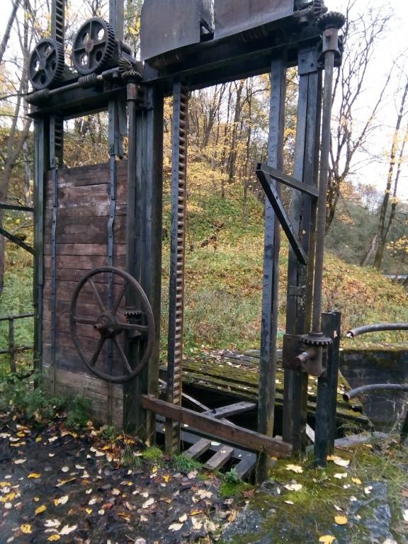 Kunda hüdroelektrijaama hoone, ülekandemehhanism. Foto: M.Abel, kp 18.10.17