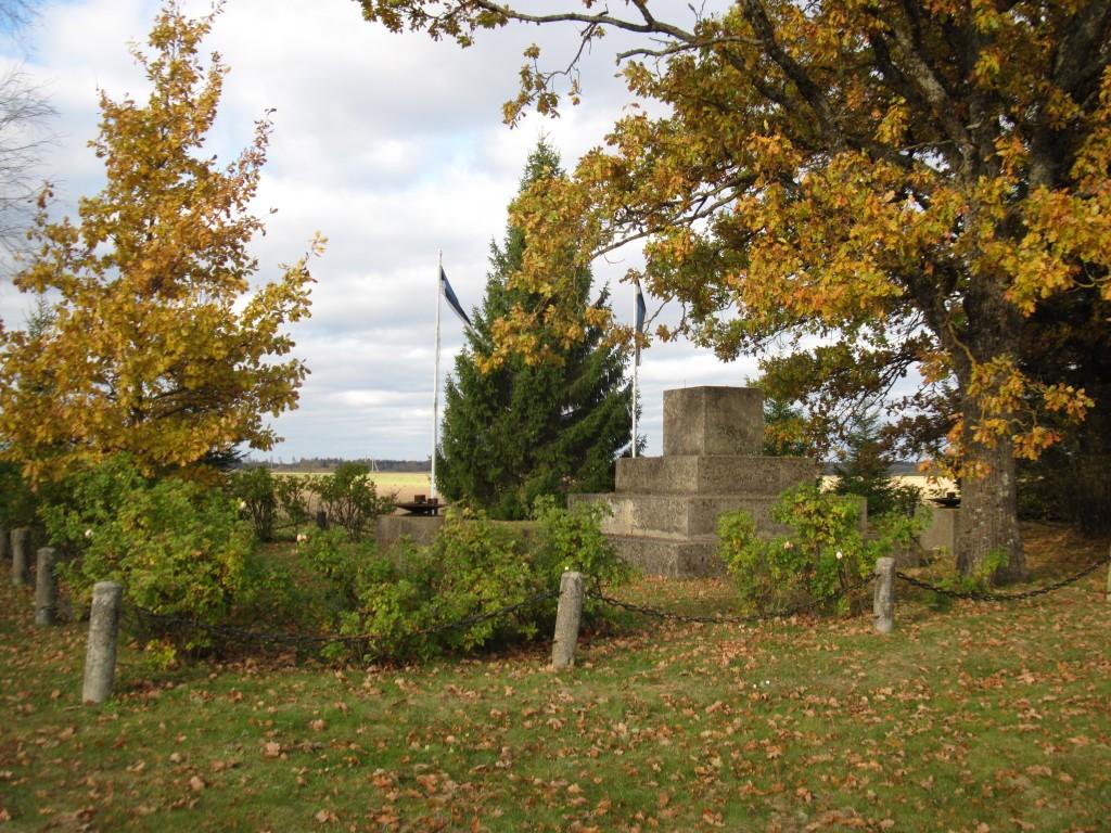 Aidu Vabadussõja mälestusmärk. Vaade lõunast.  Foto: Sille Raidvere  Aeg: 17.10.2016