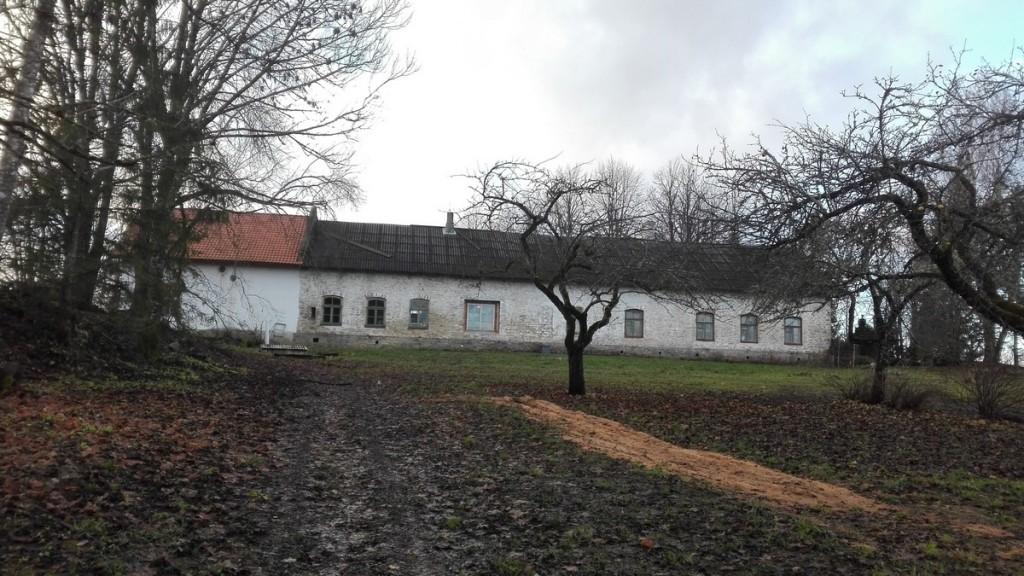 Purdi mõisa töölistemaja, vaade idast. Foto: K. Klandorf 16.11.2017.