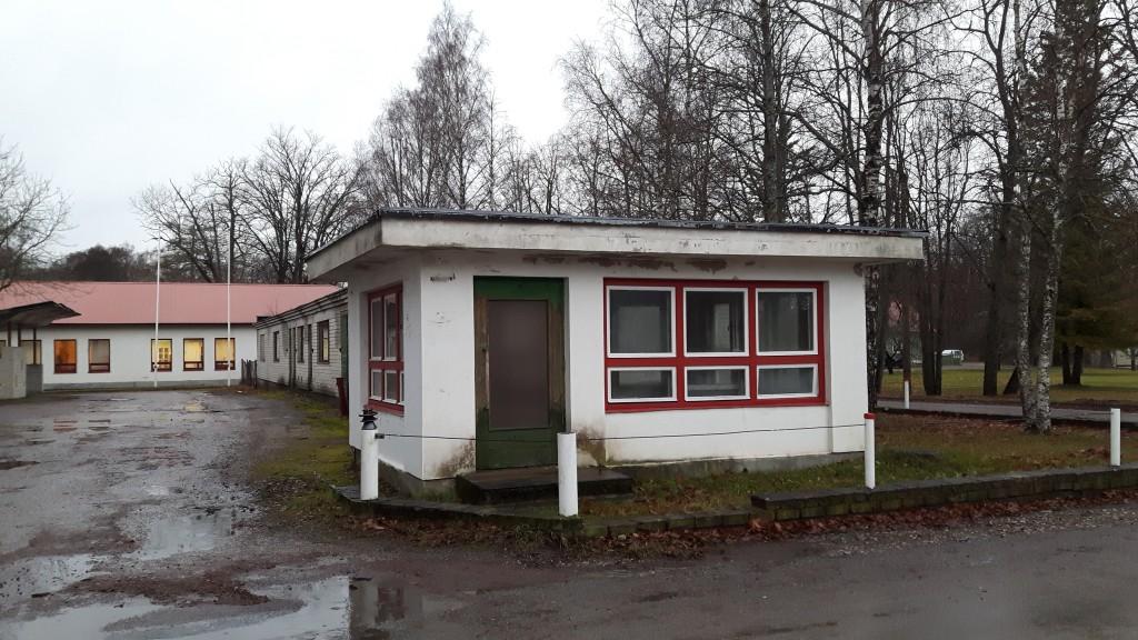 Kärdla reservelektrijaama väravahoone. Foto: Karin Kirtsi Kuupäev 27.11.2017