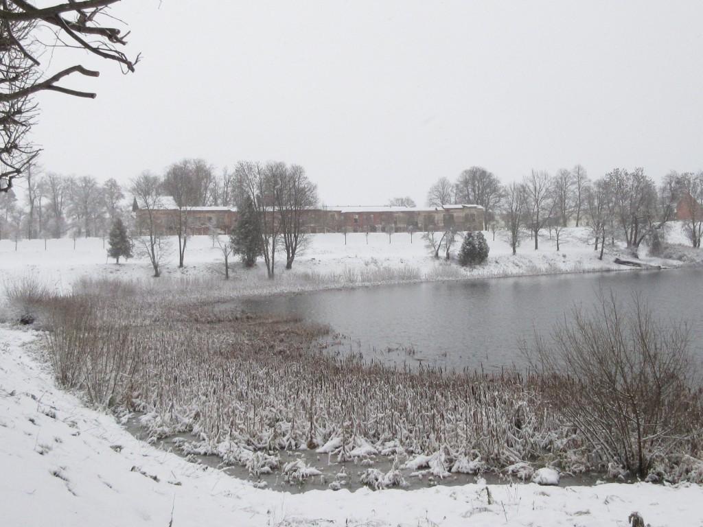 Narva mnt 177 vaade Raadi mõisa varemetele üle järve. Foto Egle Tamm, 01.12.2017.