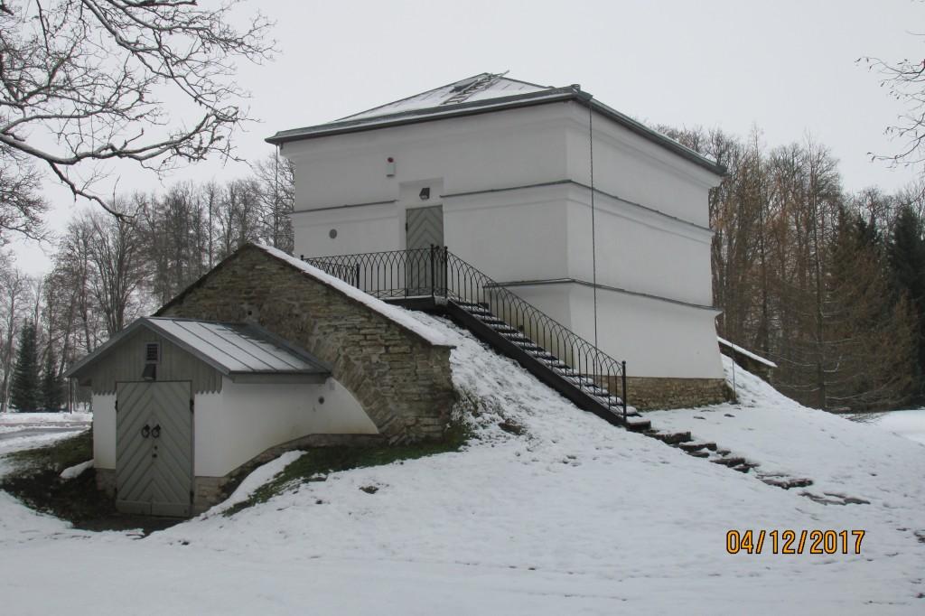 Mäetaguse mõisa aednikumaja, 19. saj. Vaade edelast. 04.12.2017.a.
