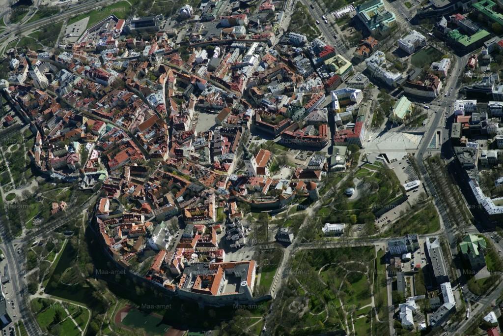 Tallinna vanalinn. Maa-ameti aerofoto