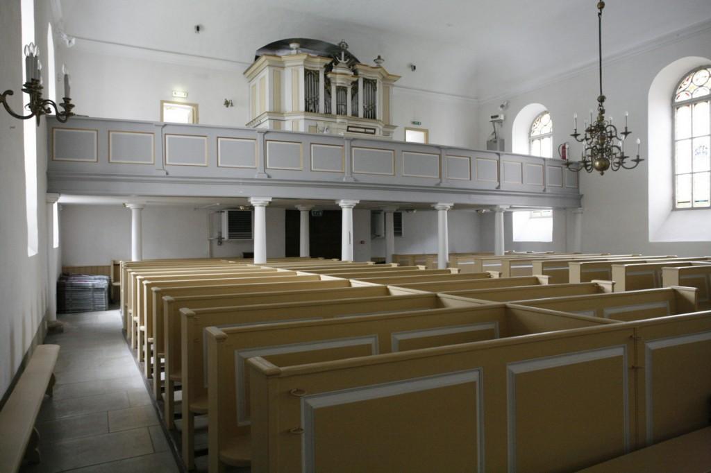 Paide kiriku interjööri vaade. Foto: Kaarel Truu 19.09.2017.