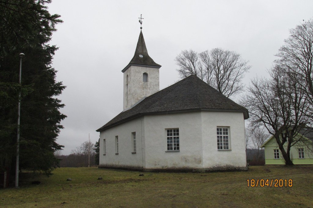 Pühajõe kirik. Vaade kirdest. Foto: Kalle Merilai 18.04.2018. a.