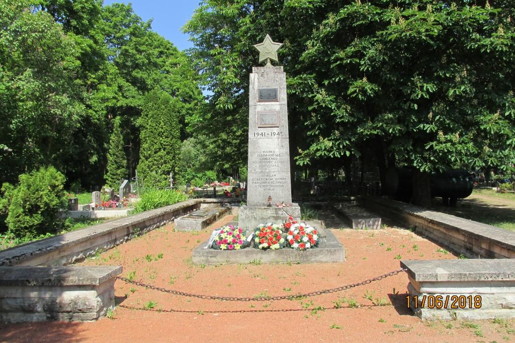 II Maailmasõjas hukkunute ühishaud. Foto: kalle Merilai 11.06.2018.a.