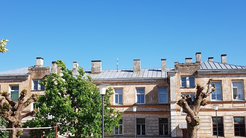 Tiibhoone, vaade loodest katusemaastikule. Foto: M.Abel, kp 29.05.18