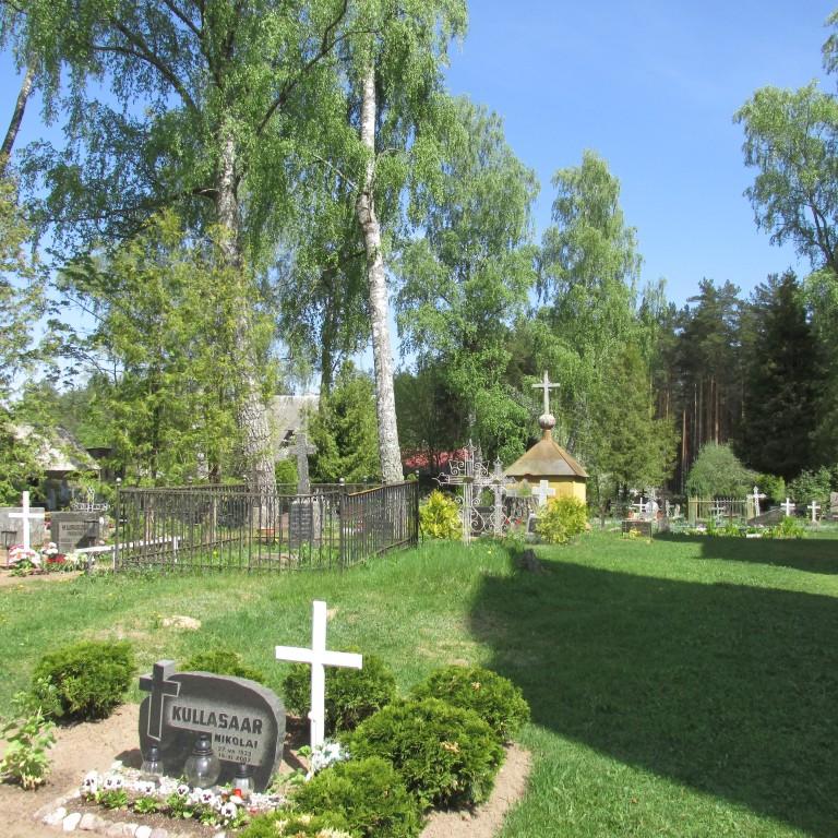 Kalmistu. Vana kiriku torniosa. Foto Mirja Ots, 14.05.2018.