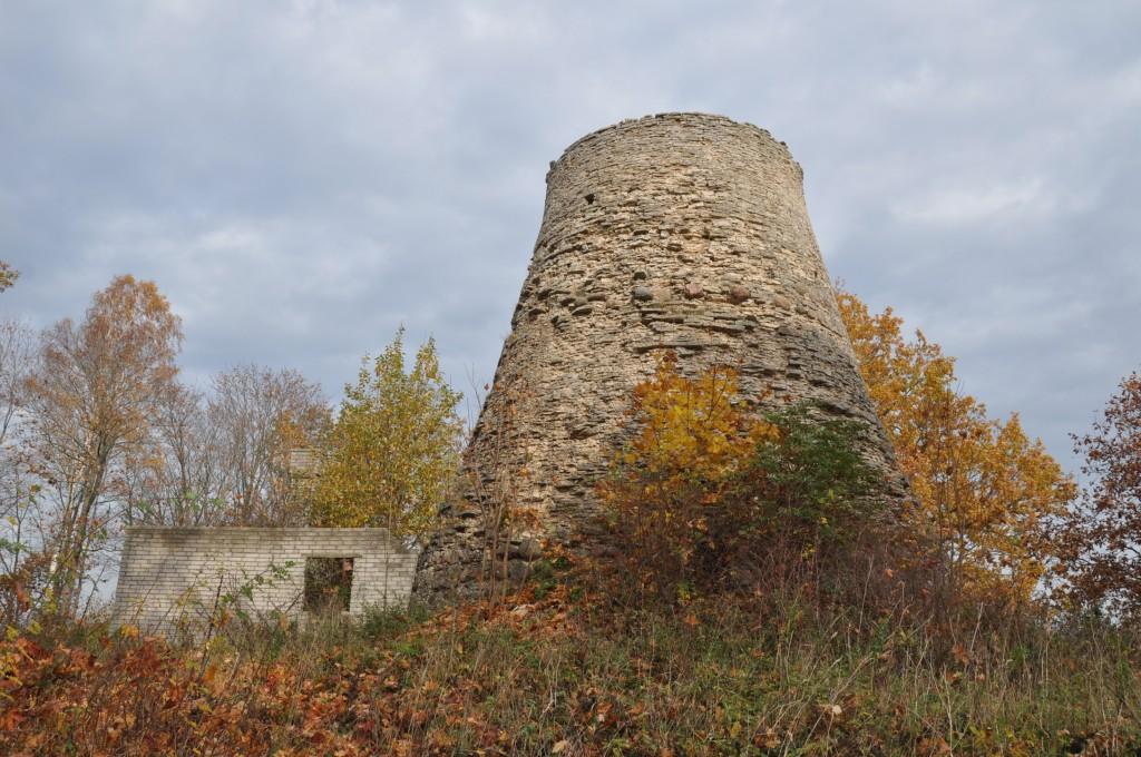 Pagari mõisa tuuleveski, 1859. Vaade lõunast. Foto: Kalle Merilai 17.10.2018.a.
