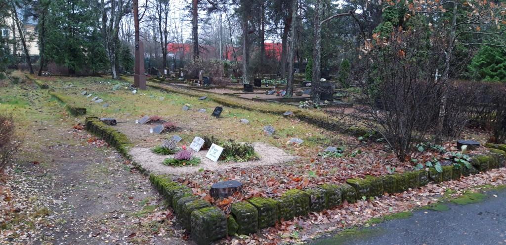 Vaade kalmistule. Foto: K. Tael 13.11.2018