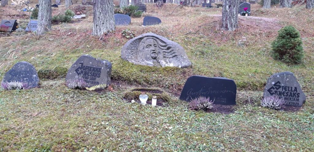 Gustav Ernesaksa haud Metsakalmistul (ajaloomälestis reg-nr 1126). Foto: K. Tael 6.11.2018
