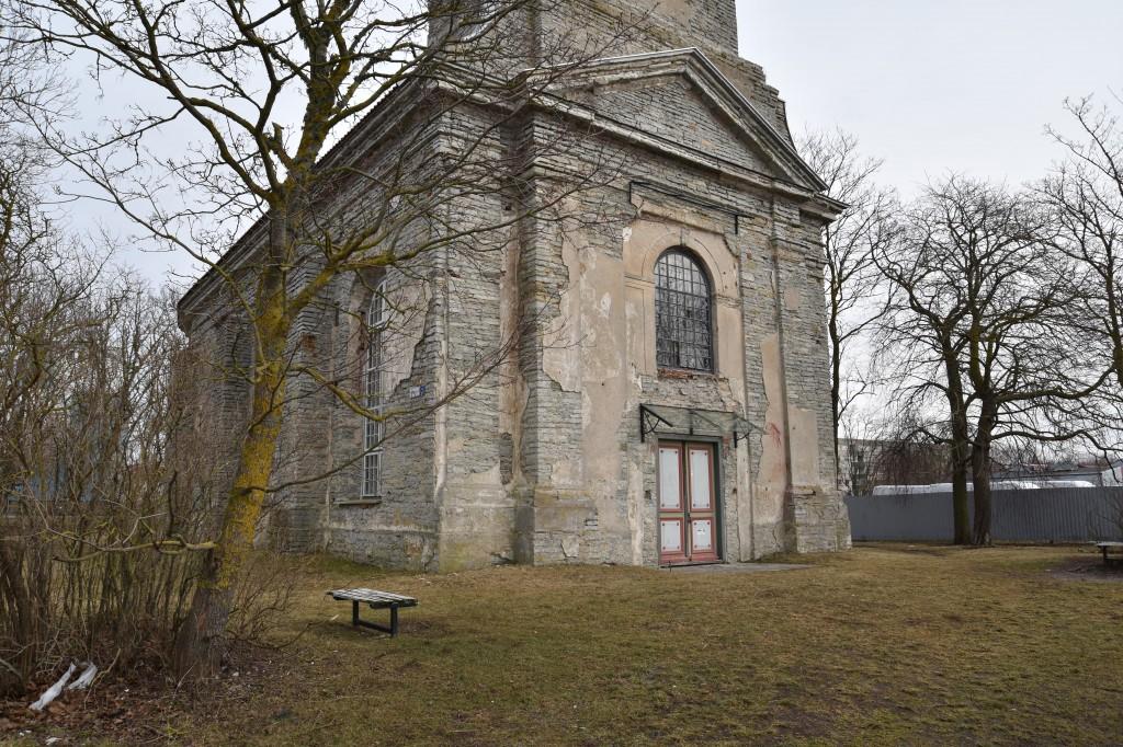 Vaade kirikule. Foto: K. Tael 27.02.2019
