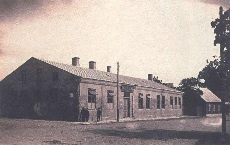 Kadettidekooli hoone foto ca 1910. Saaremaa Muuseumi Fotokogu. Autor teadmata.