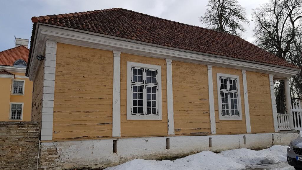 Palmse mõisa kavaleridemaja, vaade loodest. Foto: M.Abel, kp 21.03.2019