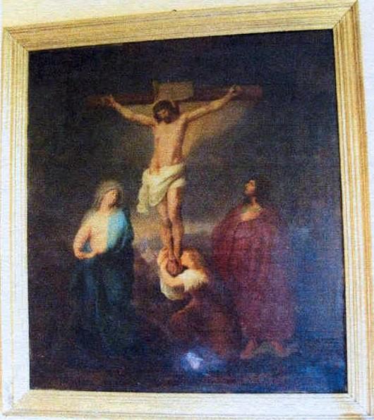 "Altarimaal ""Kristus ristil"". 19. saj. (õli, lõuend)"