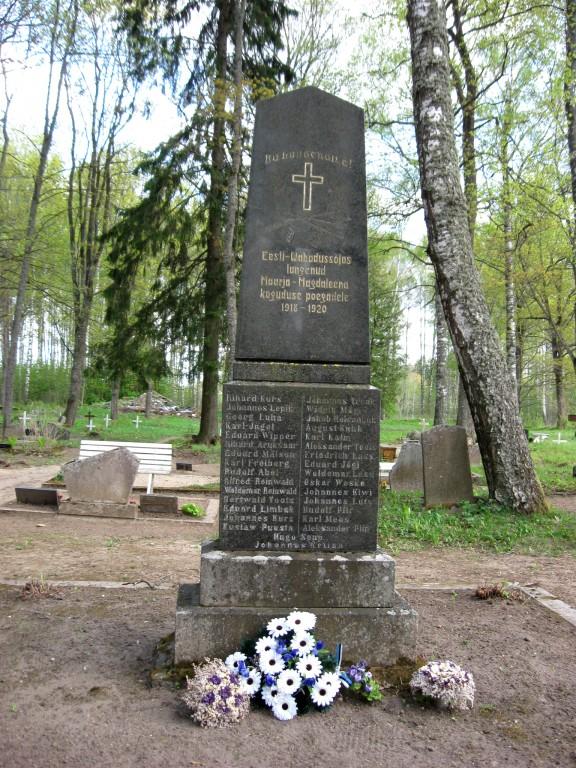 Vabadussõja mälestussammas Maarja-Magdaleena kalmistul