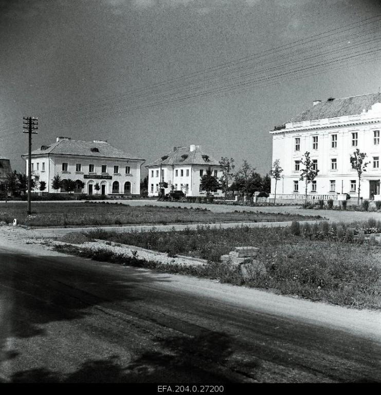 Orissaare keskväljak, foto aastast 1959. EFA.204.0.27200