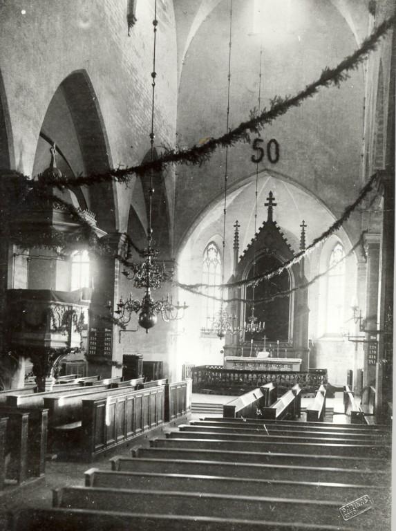 Jaani kiriku interjöör 1912.a.