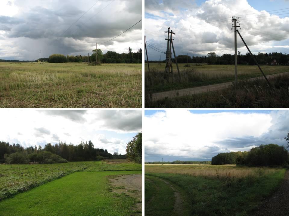 Vaateid asulakohale loodest, põhjast ja lõunast. Foto: M. Abel, 24.09.2009.