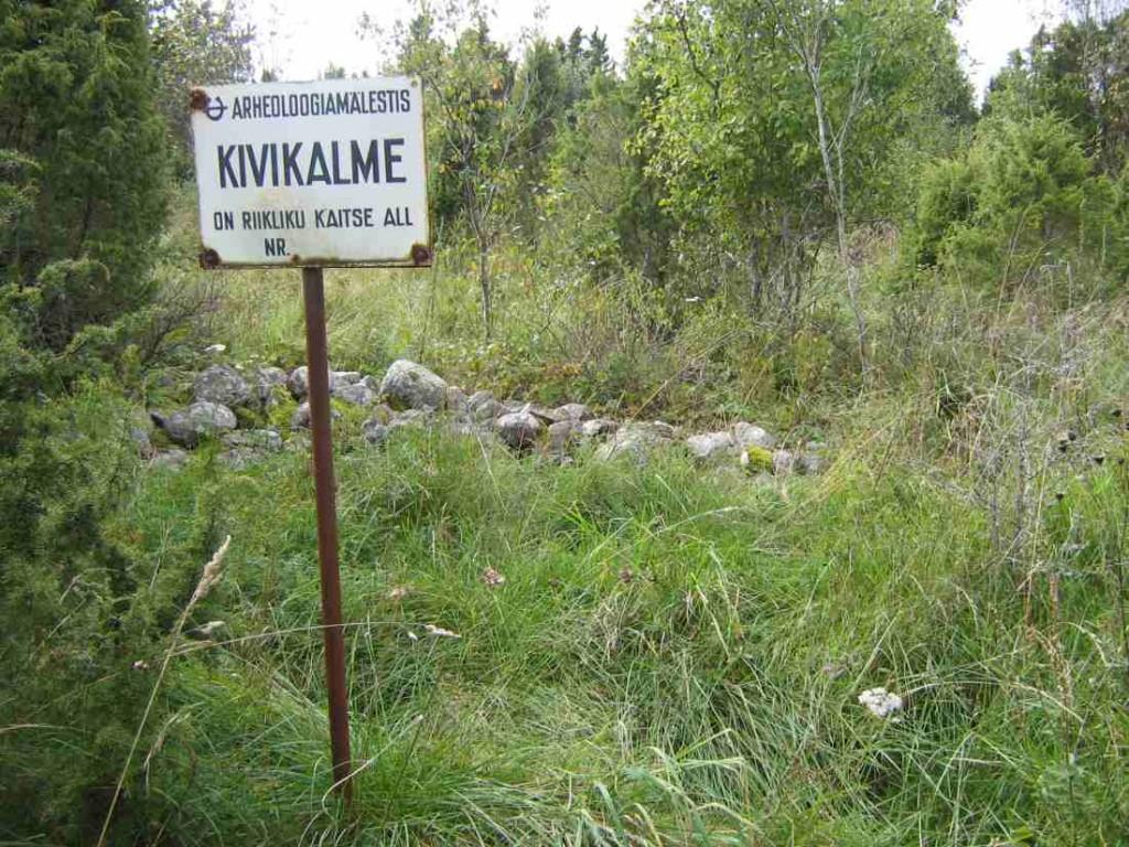 Kivikalme, Õha küla. Foto: M. Koppel, 2009.