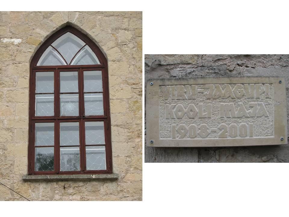 Viru-Jaagupi Noorsoo Kasvatuse Seltsi kooli hoone, reg. nr 5805. Vaade hoone detailidele. Foto: M.Abel, kuupäev 25.09.2009