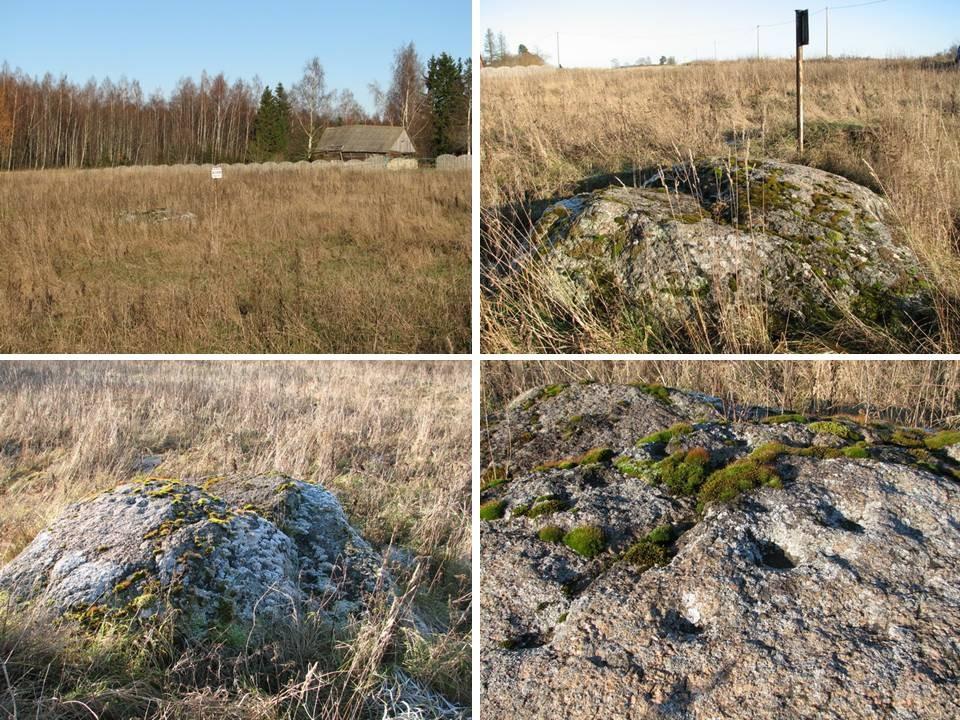 Lohukivi eemalt ning selgelt eristuvad lohud kivil. Foto: M. Abel, 02.11.2009.