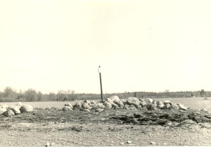 Kivikalme, läänest. Foto: H. Joonuks, 1970-ndad.