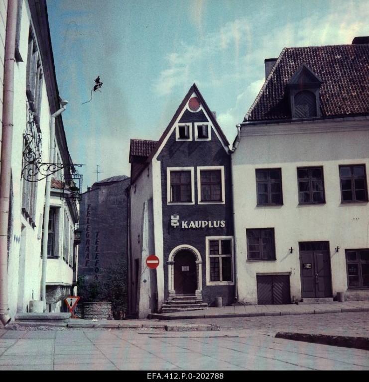 Raekoja plats 12 1980. aastate II poolel vahetult pärast terviklikku restaureerimist. Foto: Rahvusarhiiv