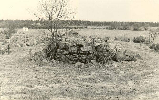 Kivikalme reg nr 12598 (718) - läänest. Foto: E. Väljal, 27.04.1982.
