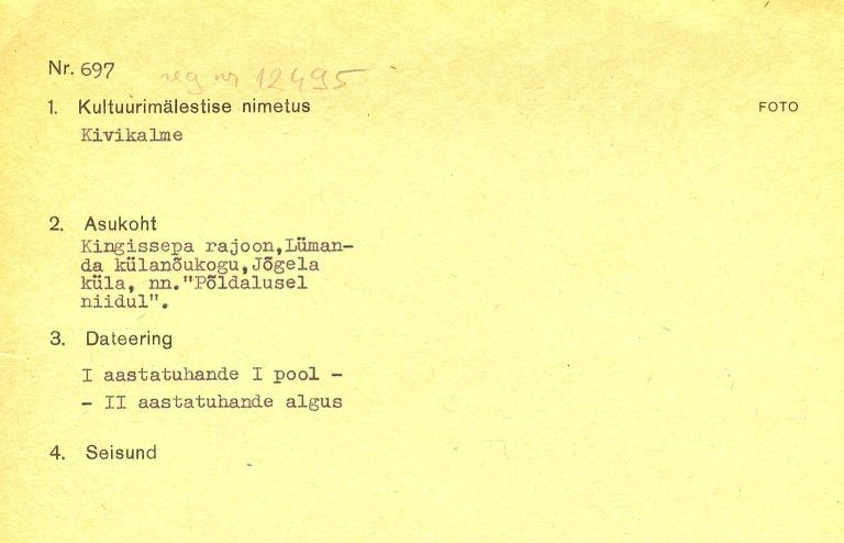 1 - arholoogiamälestise pass.