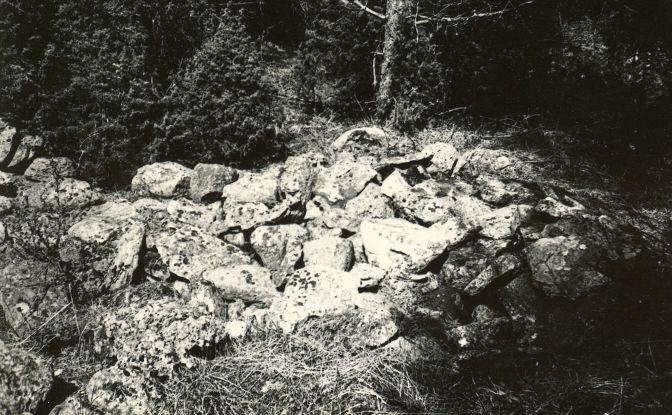 Kivikalme - lõunast. Foto: E. Väljal, 05.05.1983. (Muinsuskaitseameti arhiiv).