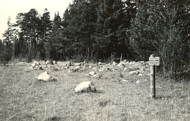 Kiviaja kalme - lõunast. Foto: E. Väljal, 05.05.1985.